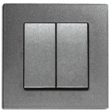 Выключатель 2-кл (без рамки) дымчатый