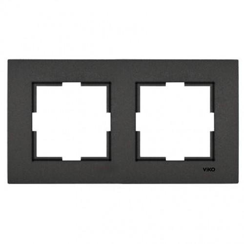 Рамка*2 универсальная дымчатый Viko Novella (92190642)