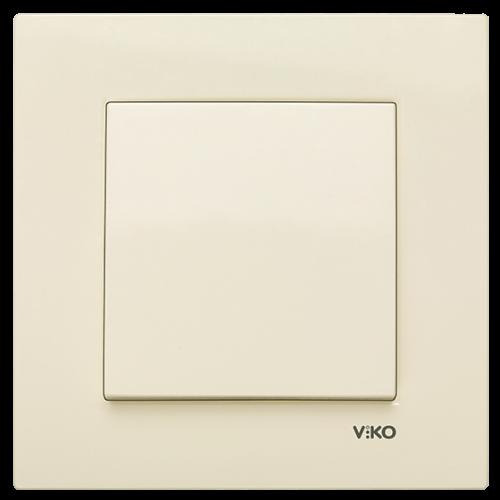 Выключатель 1-кл (без рамки) кремовый Viko Karre (90963701)