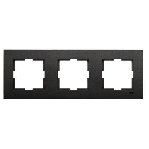 Рамка*3 универсальная дымчатый  Viko Novella (92190643)