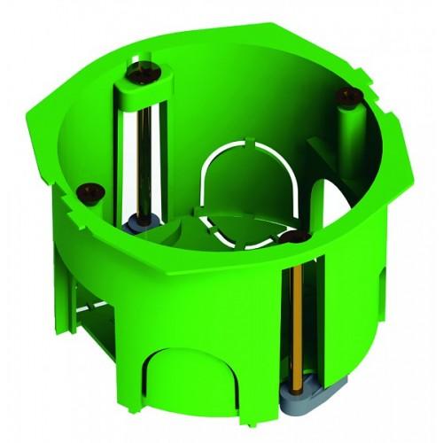 Коробка установочная для полых стен (пластиковые лапки)  Hegel     (КУ1201)