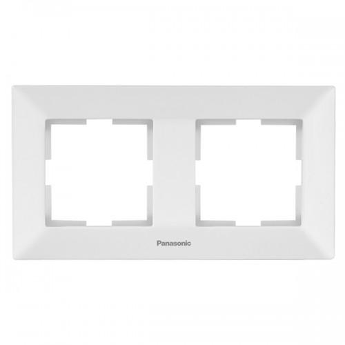 Рамка*2 универсальная белая Panasonic Arkedia  (WMTF08022WH-BY)