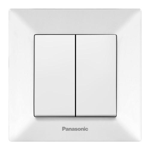 Выключатель 2-кл (в сборе) белый Panasonic Arkedia (WMTC00092WH-BY)