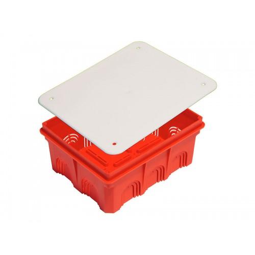 Коробка разветвительная для сплошных стен прямоугольная с крышкой Hegel     (КР1104)