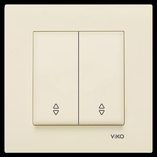 Выключатель 2-кл проходной (без рамки) кремовый  Viko Karre (90963717)
