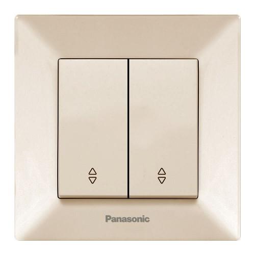 Выключатель 2-кл проходной кремовый Panasonic Arkedia (WMTC00112BG-BY)