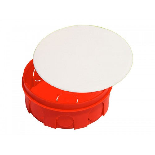 Коробка разветвительная для сплошных стен круглая с крышкой Hegel     (КР1105)