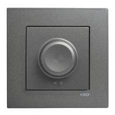 Выключатель-диммер (без рамки) дымчатый