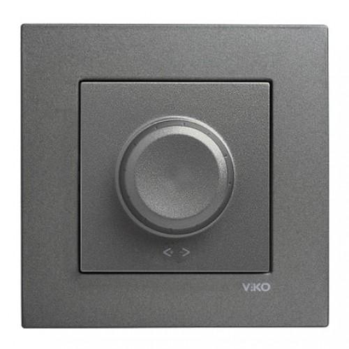 Выключатель-диммер (без рамки) дымчатый  Viko Novella (92105420)