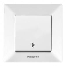 Выключатель 1-кл проходной (в сборе) белый