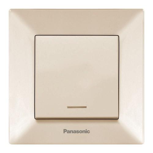 Выключатель 1-кл с индикацией (в сборе) кремовый Panasonic Arkedia (WMTC00022BG-BY)
