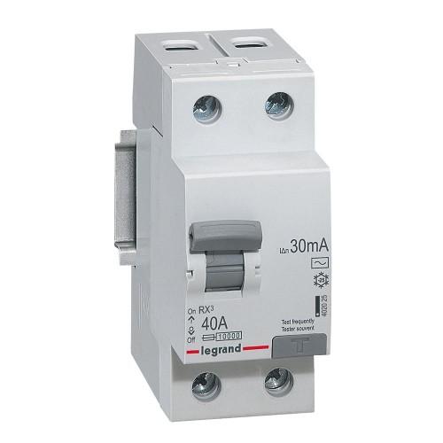 УЗО электромеханическое 2P 40A 10kA 30mA тип AC Legrand RX3 (402025)