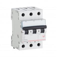 Автоматический выключатель 3P 10A хар-ка B 6kA