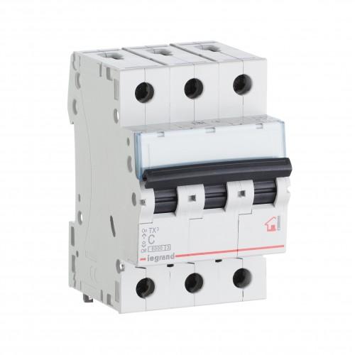 Автоматический выключатель 3P 10A хар-ка C 6kA Legrand ТХ3 (404054)