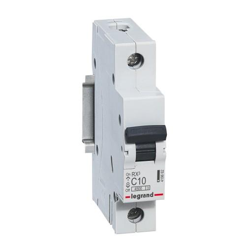 Автоматический выключатель 1P 10A хар-ка C 4,5kA  Legrand RX3 (419662)