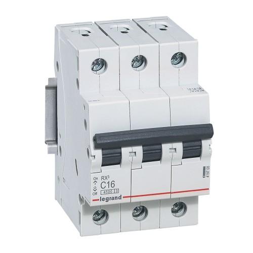 Автоматический выключатель 3P 16A 4,5кА 3M С Legrand RX3 (419708)
