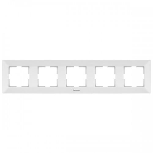 Рамка*5 универсальная белая  Panasonic Arkedia (WMTF08052WH-BY)