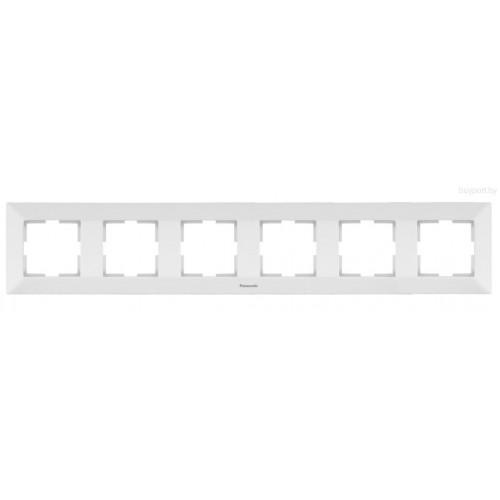 Рамка*6 универсальная белая Panasonic Arkedia  (WMTF08062WH-BY)