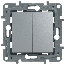 Выключатель 2-кл алюминий