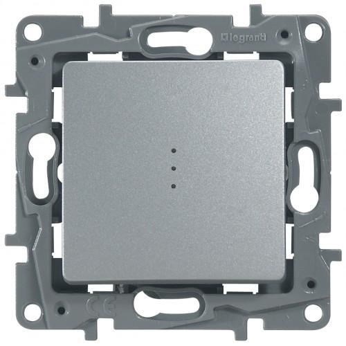 Переключатель 1-кл с подсветкой алюминий Legrand Etika (672415)