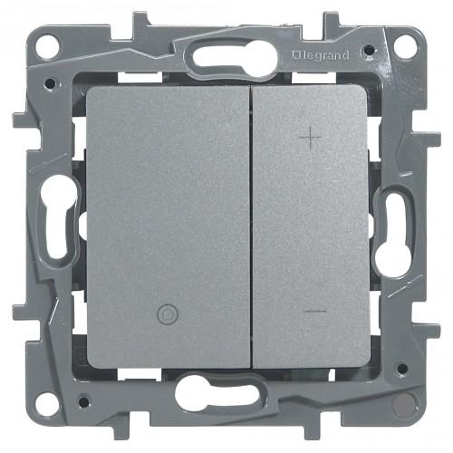 Светорегулятор 400Вт алюминий Legrand Etika (672418)