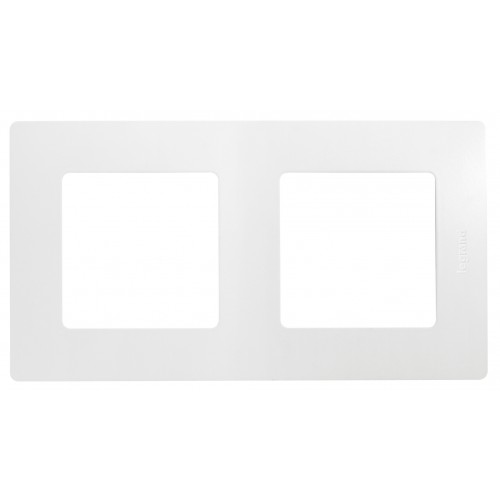 Рамка 2 поста белая Legrand Etika (672502)