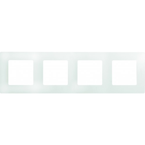 Рамка 4 поста белая Legrand Etika (672504)