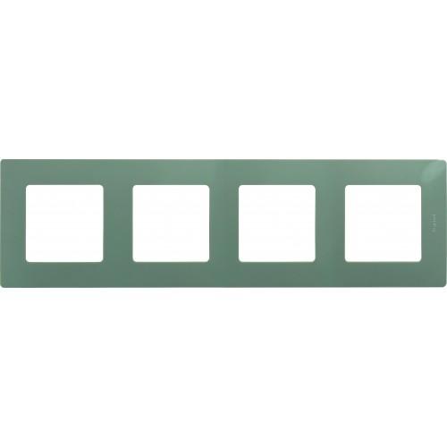 Рамка 4 поста светлая галька Legrand Etika (672524)