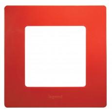 Рамка 1пост красный