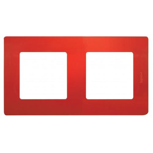 Рамка 2поста красная Legrand Etika (672532)