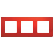 Рамка 3поста красная