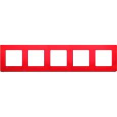 Рамка 5постов красная