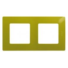 Рамка 2 поста зеленый папоротник
