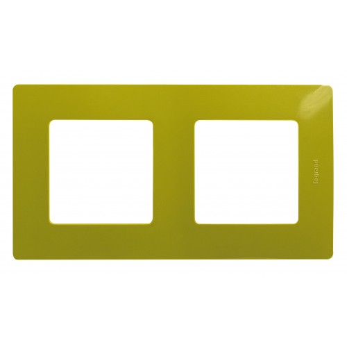 Рамка 2 поста зеленый папоротник Legrand Etika (672542)