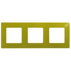 Рамка 3 поста зеленый папоротник