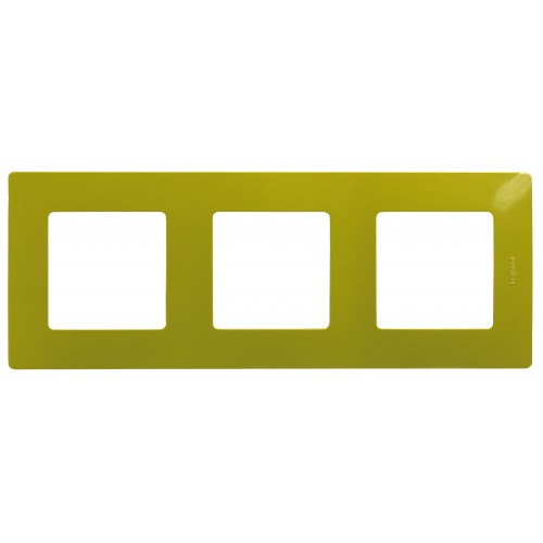 Рамка 3 поста зеленый папоротник Legrand Etika (672543)