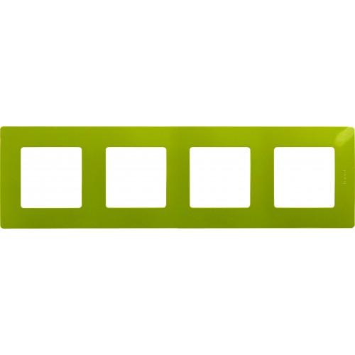 Рамка 4поста зел. папоротник Legrand Etika (672544)