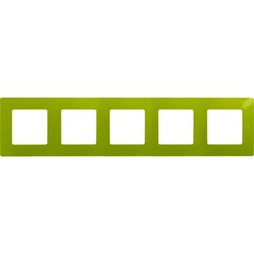 Рамка 5 постов зеленый папоротник Legrand Etika (672545)