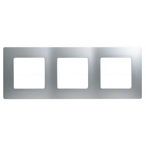 Рамка 3 поста алюминий Legrand Etika (672553)
