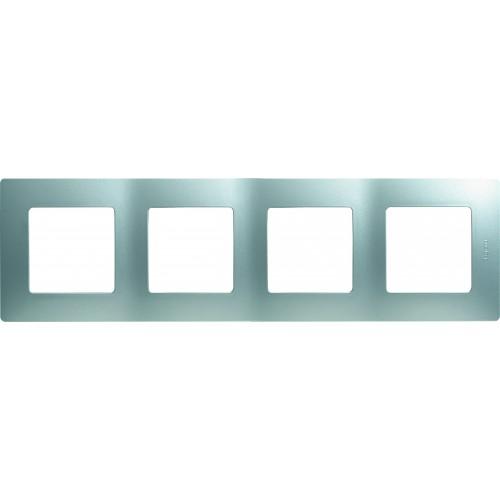 Рамка 4 поста алюминий Legrand Etika (672554)