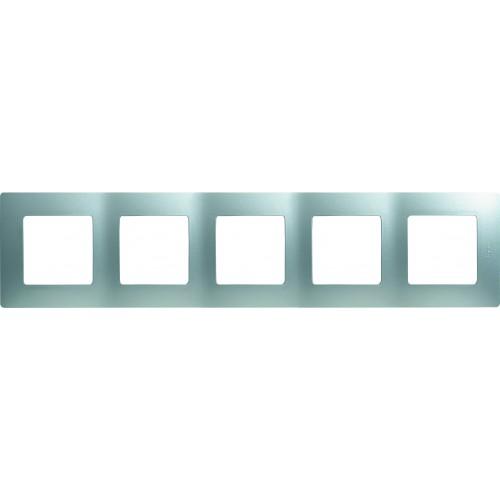 Рамка 5постов аллюминий Legrand Etika (672555)