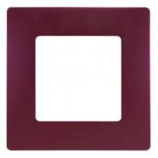 Рамка 1пост цвет сливовый