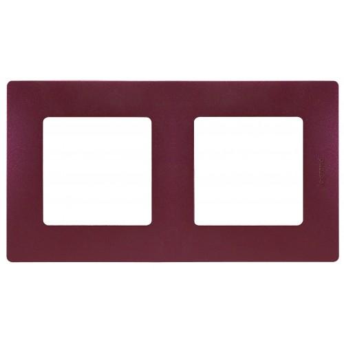 Рамка 2поста цвет сливовая Legrand Etika (672562)