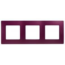 Рамка 3поста цвет сливовая