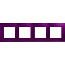 Рамка 4поста цвет сливовая