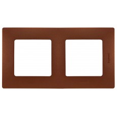 Рамка 2поста цвет какао