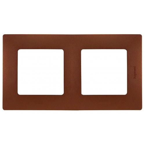 Рамка 2поста цвет какао Legrand Etika (672572)