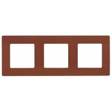 Рамка 3поста цвет какао
