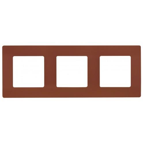 Рамка 3поста цвет какао Legrand Etika (672573)
