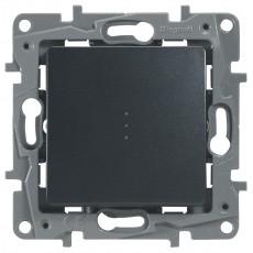 Переключатель/выключатель 1-кл. с подсветкой антрацит